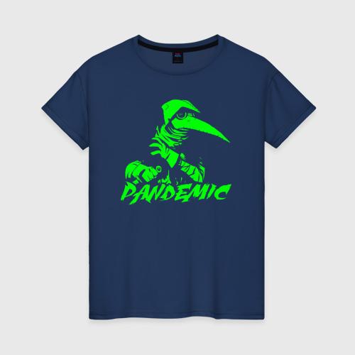 Женская футболка хлопок ПАНДЕМИЯ чумной доктор