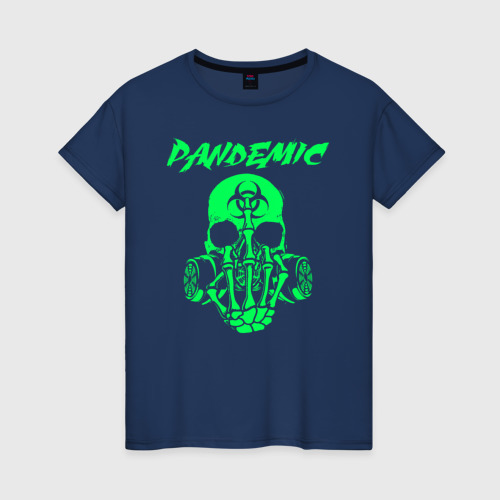 Женская футболка хлопок Пандемия