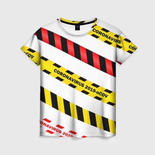 Женская футболка 3D 2019-nCoV Коронавирус