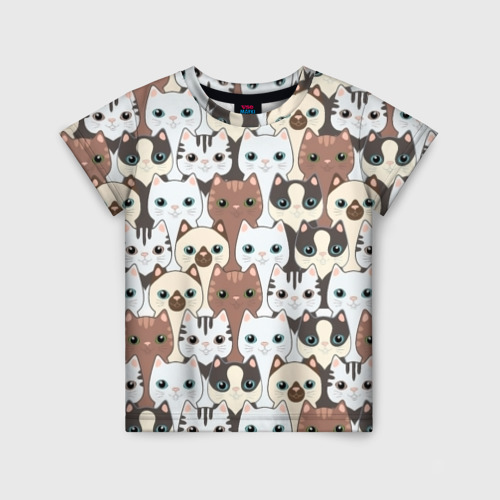 Детская футболка 3D Животные.