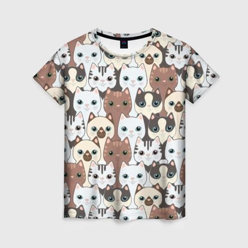 Женская футболка 3D Животные.