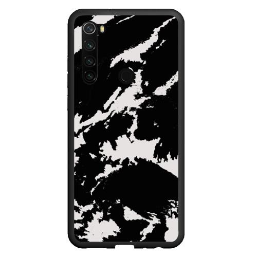 Чехол для Xiaomi Redmi Note 8 Черный на сером