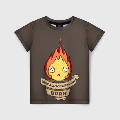 Детская футболка 3D Burn emotion