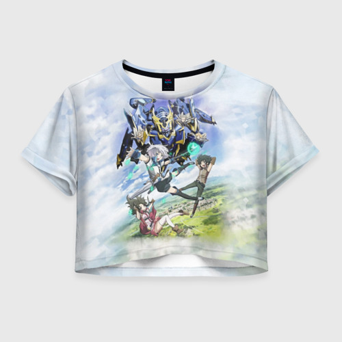 Женская футболка Crop-top 3D Рыцари и магия