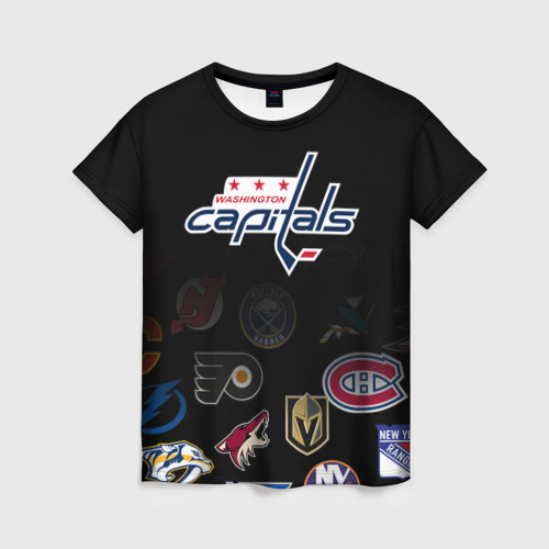 Женская футболка 3D NHL Washington Capitals   НХЛ (Z)
