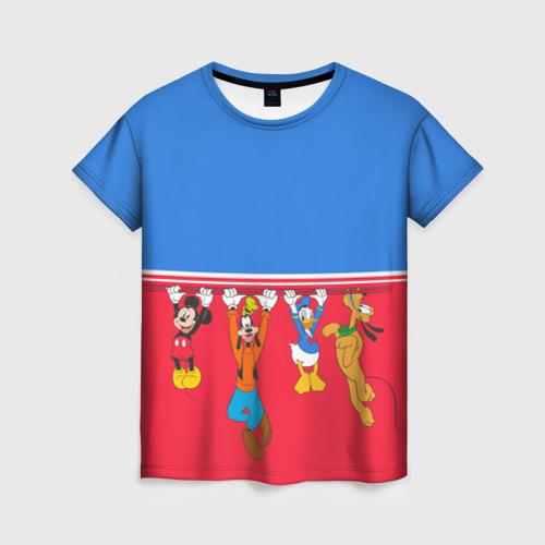 Женская футболка 3D Отвисаем