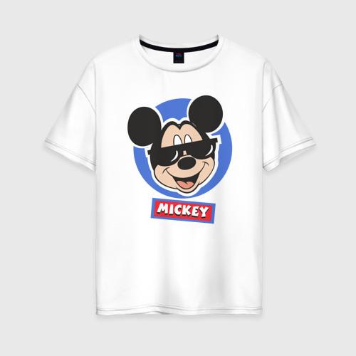 Женская футболка хлопок Oversize Disney.Микки Маус
