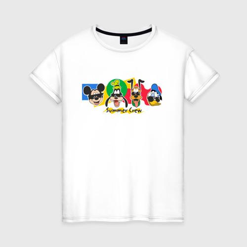 Женская футболка хлопок Летняя Команда