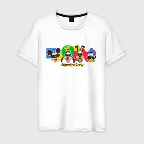 Мужская футболка хлопок Летняя Команда