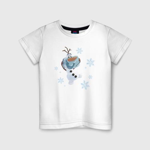 Детская футболка хлопок Олаф. Холодное сердце