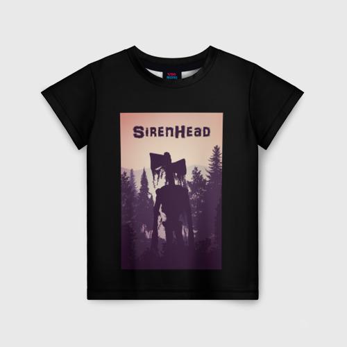 Детская футболка 3D Siren Head (сиреноголовый)