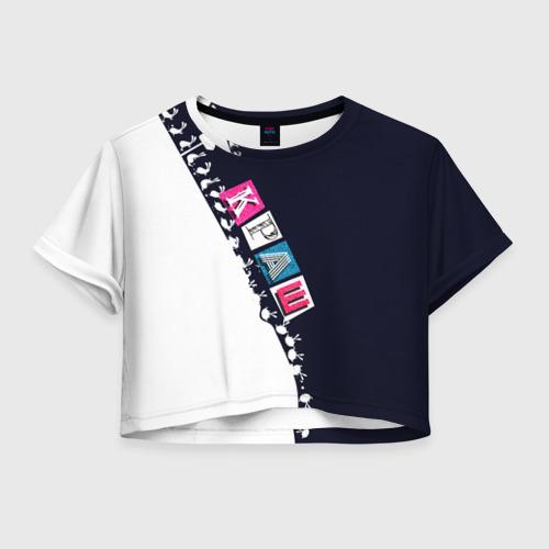 Женская футболка Crop-top 3D Краш