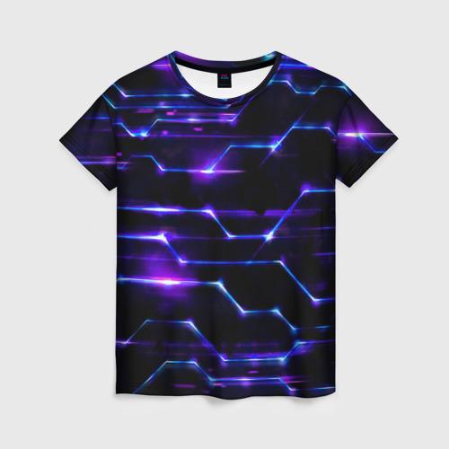 Женская футболка 3D Технологии будущее нано броня