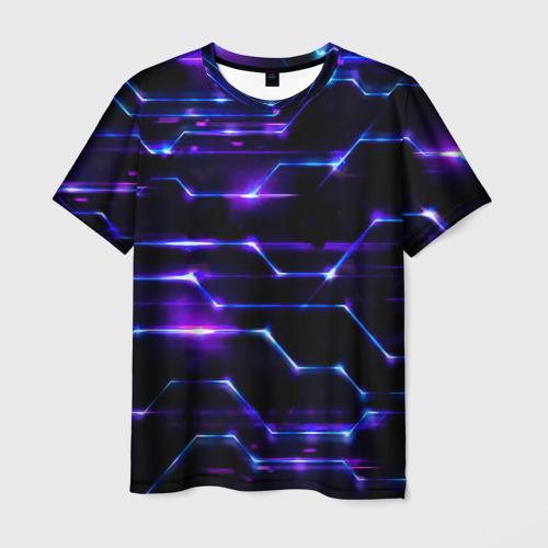 Мужская футболка 3D Технологии будущее нано броня
