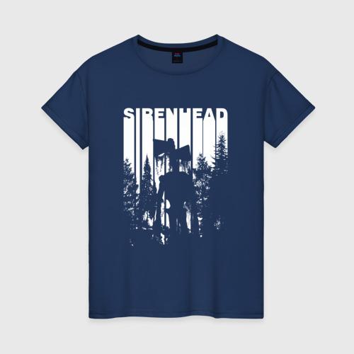 Женская футболка хлопок Siren Head