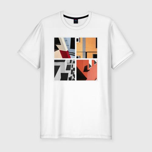 Мужская футболка хлопок Slim архитектура