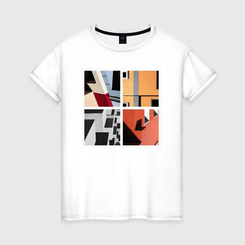 Женская футболка хлопок архитектура