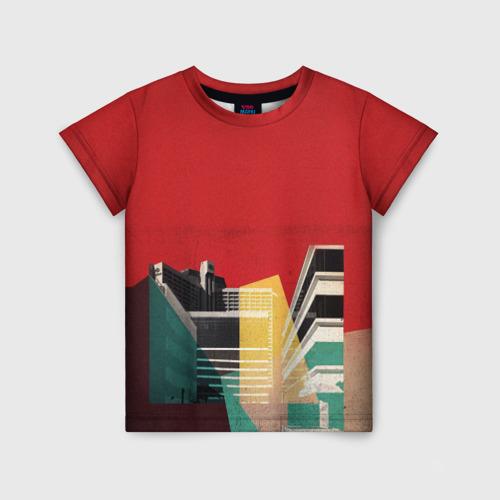 Детская футболка 3D архитектура