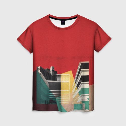 Женская футболка 3D архитектура