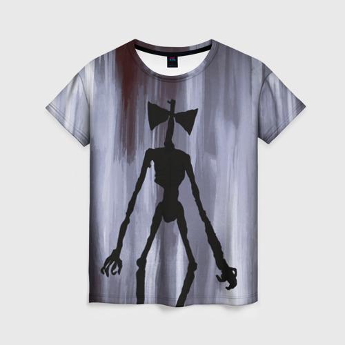 Женская футболка 3D Сиреноголовый