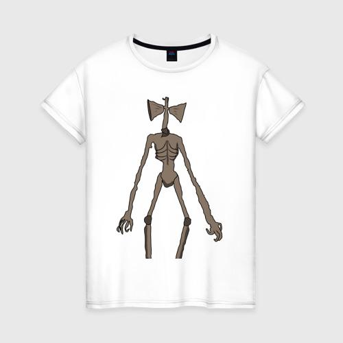 Женская футболка хлопок Сиреноголовый монстр