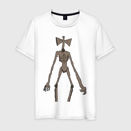 Мужская футболка хлопок Сиреноголовый монстр