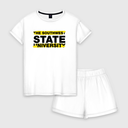 Женская пижама с шортиками хлопок SWSU brush
