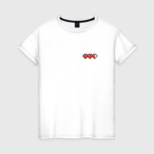 Женская футболка хлопок Minecraft Health