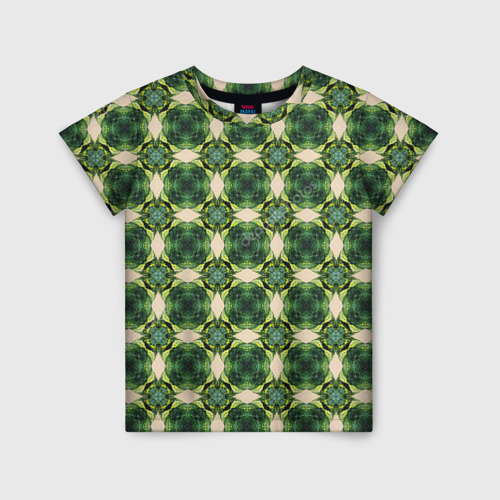 Детская футболка 3D Зеленые драгоценности