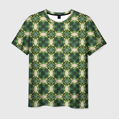 Мужская футболка 3D Зеленые драгоценности