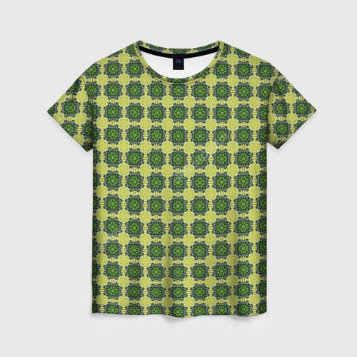 Женская футболка 3D Зеленые драгоценности