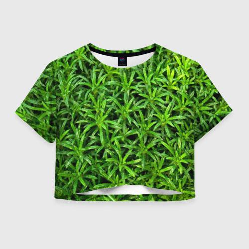 Женская футболка Crop-top 3D Растения