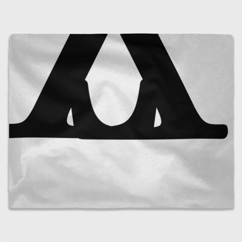 Плед 3D Буквы, черные буквы