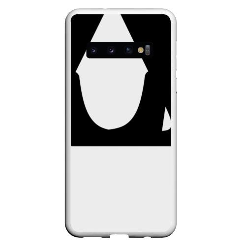 Чехол для Samsung Galaxy S10 Буквы, черные буквы