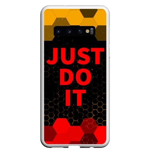 Чехол для Samsung Galaxy S10 JUST DO IT