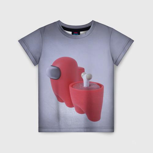 Детская футболка 3D Among Us - Human