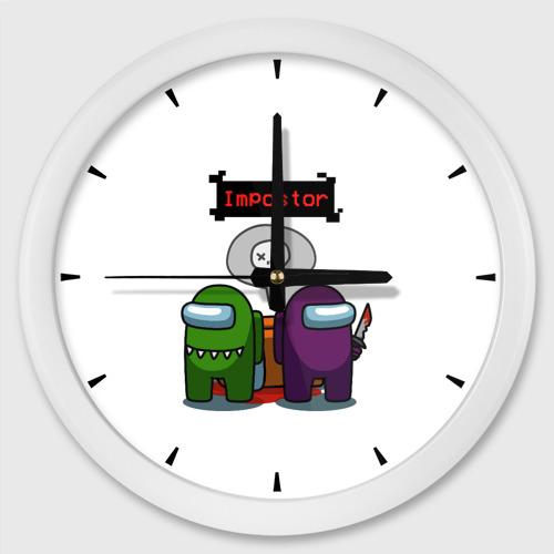 Настенные часы круглые Among Us