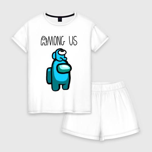Женская пижама с шортиками хлопок AMONG US