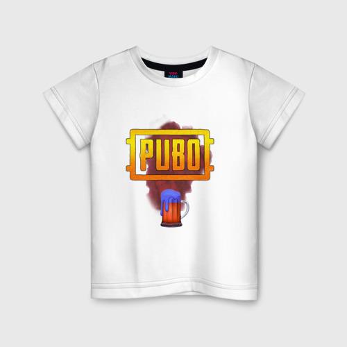 Детская футболка хлопок Пубг аэрдроп прикол