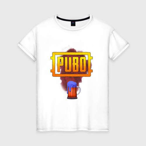 Женская футболка хлопок Пубг аэрдроп прикол