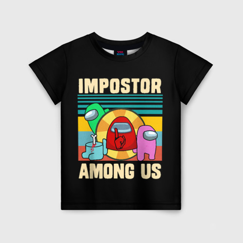 Детская футболка 3D Among Us IMPOSTOR