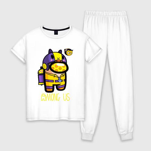 Женская пижама хлопок Among Us Пчела