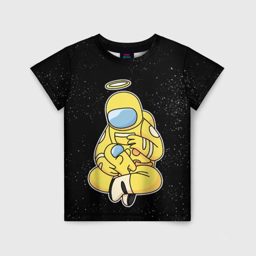 Детская футболка 3D АМОНГ АС   AMON US