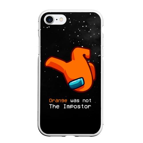 Чехол для iPhone 7/8 матовый AMONG US - Orange