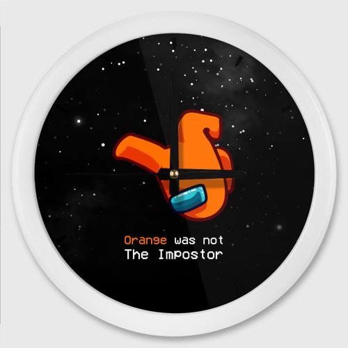 Настенные часы круглые AMONG US - Orange