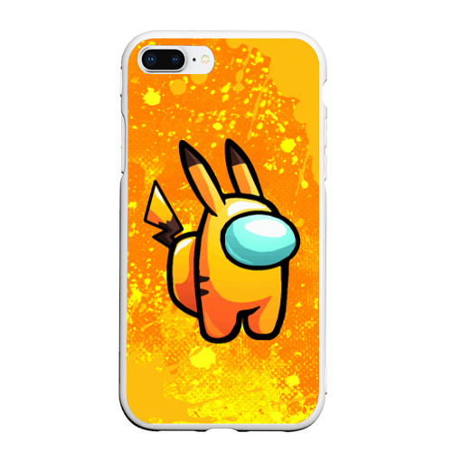 Чехол для iPhone 7Plus/8 Plus матовый AMONG US - Pikachu