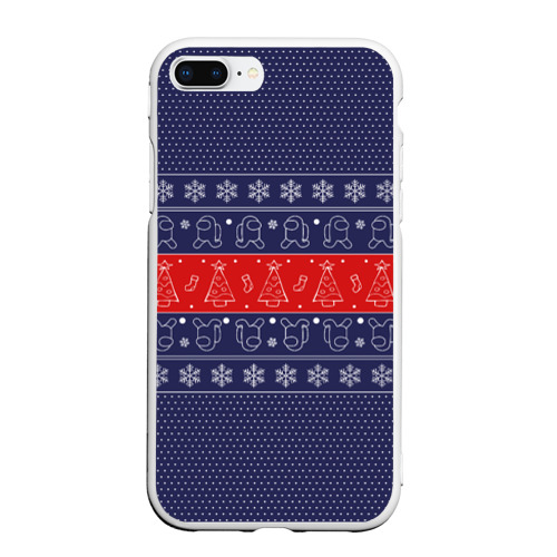Чехол для iPhone 7Plus/8 Plus матовый Новогодний Among Us