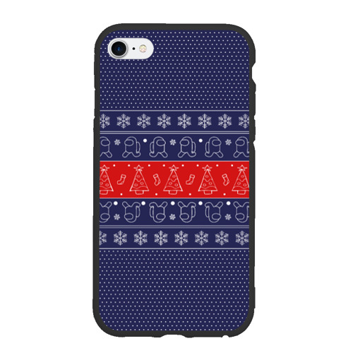 Чехол для iPhone 6Plus/6S Plus матовый Новогодний Among Us