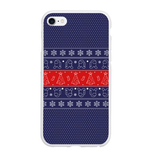 Чехол для iPhone 6/6S матовый Новогодний Among Us