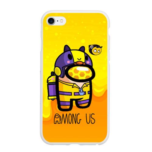 Чехол для iPhone 6/6S матовый Among Us пчела
